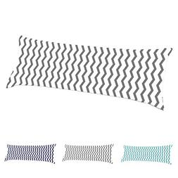TAOSON 100% Cotton 300 Thread Count Gray and White Chevron Z