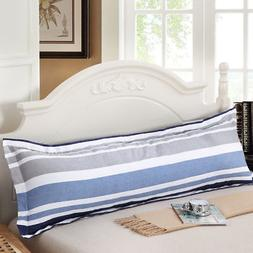 Cotton Large Printing Pillowcase Body Bed Pillow Zipper Prot