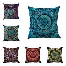 BEGOO Cotton Linen Cloth Square Cozy Throw Pillow Case Déco