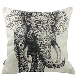 cotton linen decorative throw pillow