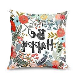 Aremazing Cotton Linen Home Decor Pillowcase Throw Pillow Cu