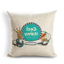 OneMtoss Cotton Linen Square Throw Pillow Cover Cushion Case
