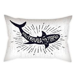 iPrint Cotton Linen Throw Pillow Cushion Cover,Shark,Spirit
