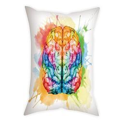 iPrint Cotton Linen Throw Pillow Cushion Cover,Watercolor,Vi