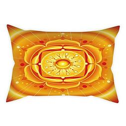 iPrint Cotton Linen Throw Pillow Cushion Cover,Lotus,Chakra