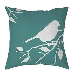 Sunhusing Cotton Linen Tree Branches Bird Print Square Hug P