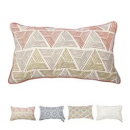 Hahadidi 100% Cotton Throw Pillows Covers for Couch/Bed, 1 P