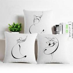 Cover Body Decor ballet Linen Throw Pillow Cotton Case Home