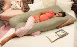 Naomi Home Cozy Body Pillow, Stone