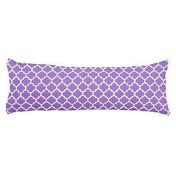 Cushion Cover Amethyst Purple Moroccan Quatrefoil Pattern Bo