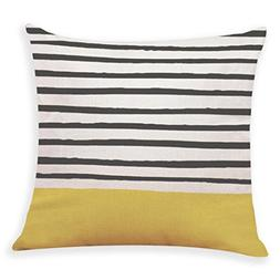 Lowprofile Home Decor Cushion Cover Yellow Style Print Throw