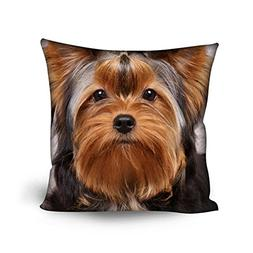 Sannovo Cute 3D Pet Dog Yorkshire Terrier Cushion Cover Home