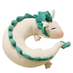 Cute Little White Dragon U-shaped pillow neck pillow Japanes