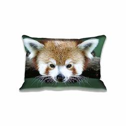 "Cute Red Panda Face Pillow Case 16""x 24"" Zippered Digital Pr"