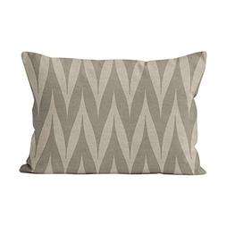 Suklly Cute Tribal Zigzag Grey on Linen Look Hidden Zipper H