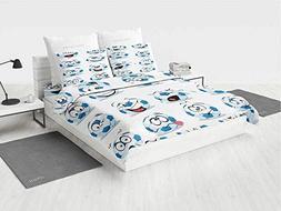 Sports Decor Moana Bedding Set Cartoon Soccer Ball with Many