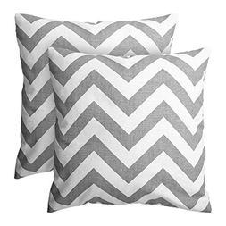 Deconovo Decorative Chevron Stripe Pattern Square Pillow Cas