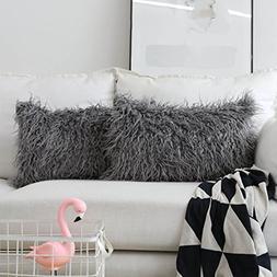HOME BRILLIANT Set of 2 Decorative New Luxury Series Merino