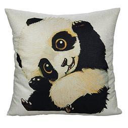 All Smiles Decorative Panda Cute Throw Pillow Case Cushion C