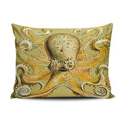 ONGING Decorative Pillowcases Gold Octopus Abstract Cool Ret