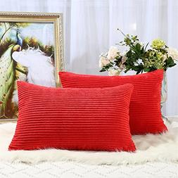 Miaote Pack of 2 Decorative Throw Pillow Covers Cases for Co