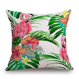 "Elliot_yew Decorative 18"" Tropical Forests Bird Printing Thr"