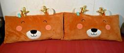 """Pillowfort- Deer Body Pillow Brown 26"""" x 14"""" Qty 2"""