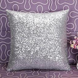 DEESEESolid Color Glitter Sequins Throw Pillow Case Cafe Hom