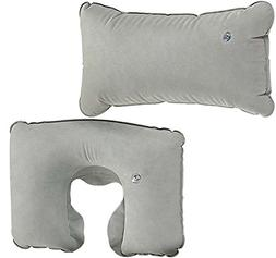 ToolUSA Deluxe Traveling Inflatable Neck And Back Pillow: KI