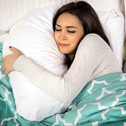 DMI U Shaped Contour Body Pillow Great for Side Sleeping, Ne