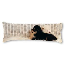 AILOVYO Dog Silky Soft Satin Pregnancy Body Pillow Cover Pil