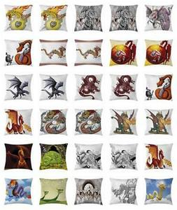 Dragon Throw Pillow Cases Cushion Covers Home Decor 8 Sizes