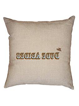 dude abides decorative linen throw