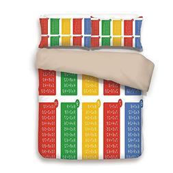 Duvet Cover Set,BACK Of Khaki,Educational,Colorful Classroom