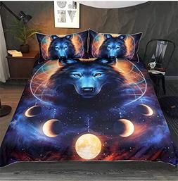 Onlyway 3pcs Duvet Cover Sets Various Halloween Animal 3D Pr