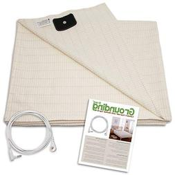 Earthing Half Sheet with Grounding Connection Cord - Silver