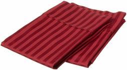 Egyptian Cotton Pillow Cover Burgundy Stripe 1000 Thread Cou