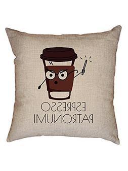 espresso patronum throw cushion pillow