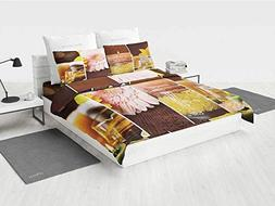 Exotic boy Queen Bedding Set Aromatic Collage with Gerbera a