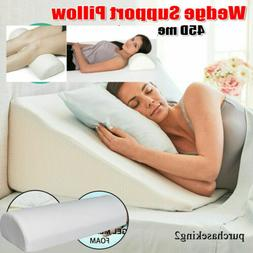 Extra Large Bed Wedge Raised Pillow Acid Reflux Memory Foam