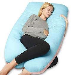 QUEEN ROSE Extra Long U-Shape Pregnancy Pillow,Full Body Pil