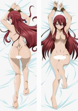 Fairy Tail Erza Dakimakura Nude Anime Body Hugging Pillow Co