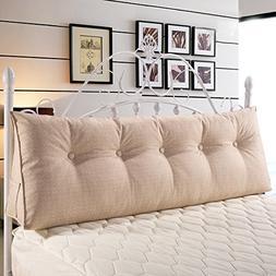 Large Filled Triangular Soft Headboard Wedge Cushion Bed Bac