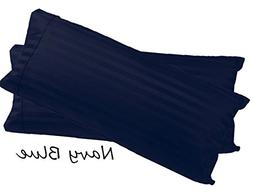 Fine Deluxe Hotel Quality Pillow Shams  Striped - Navy Blue