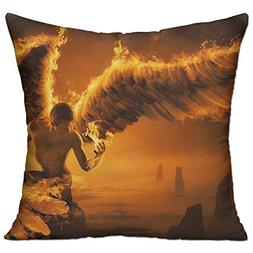 Shing Fire Man Angel Wings Double Side Print Living Room Dec