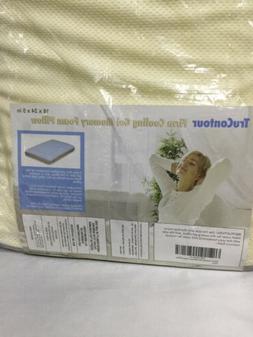 TruContour Firm Cooling Gel Memory Foam Pillow - Gel Layer &