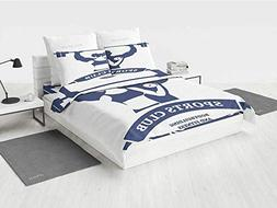 Fitness camo Bedding Set Sports Bodybuilders Club Man and Wo