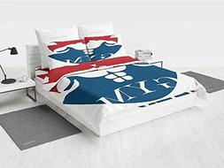 Fitness camo Bedding Set Strong Muscular Man with Biceps Pow
