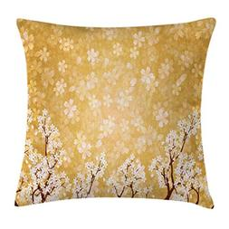 Ambesonne Floral Decor Throw Pillow Cushion Cover, Trees Blo