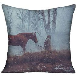Shing Forest Men Animals Horse Man Trees Double Side Print S